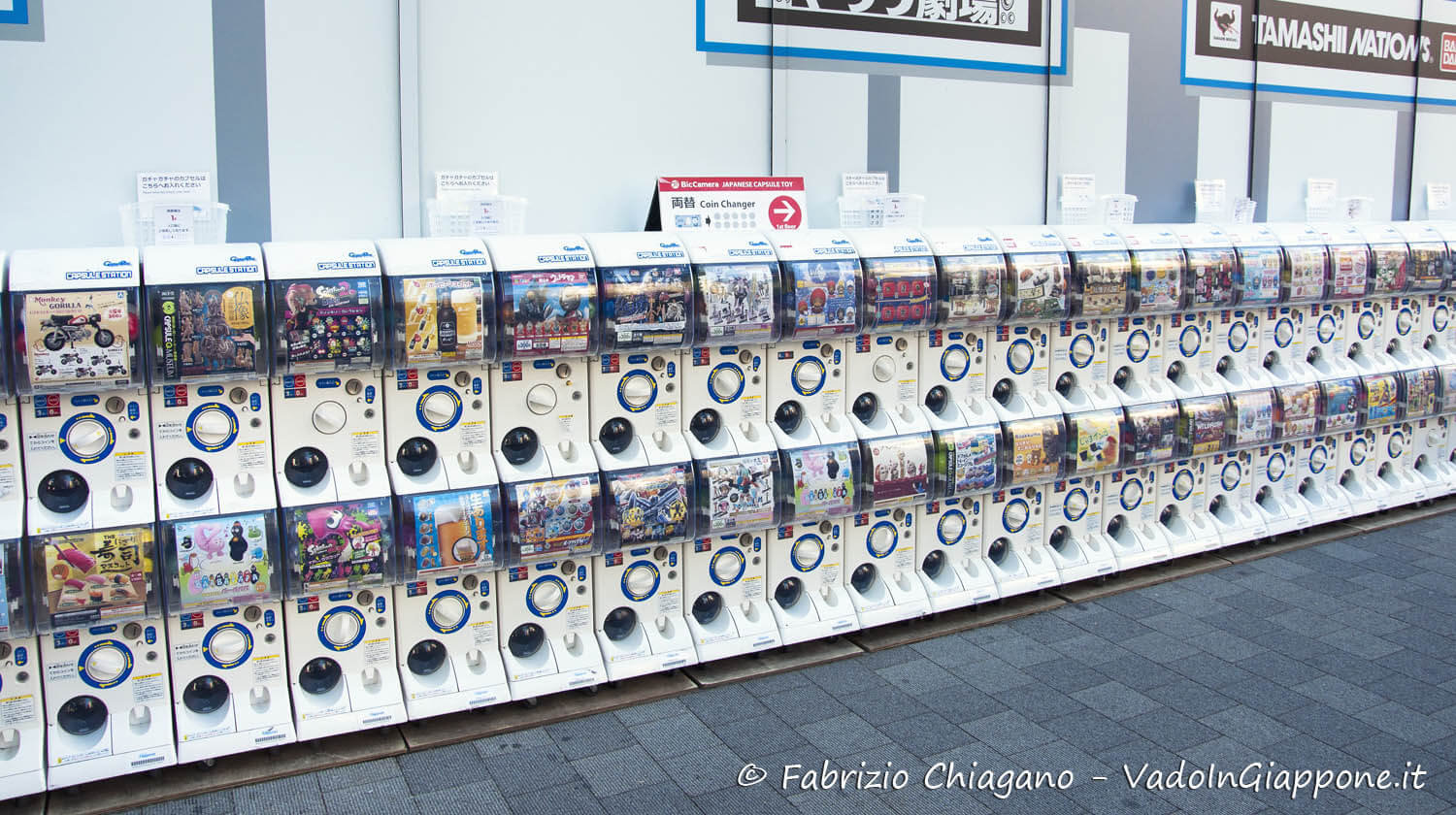 Gashapon in Giappone