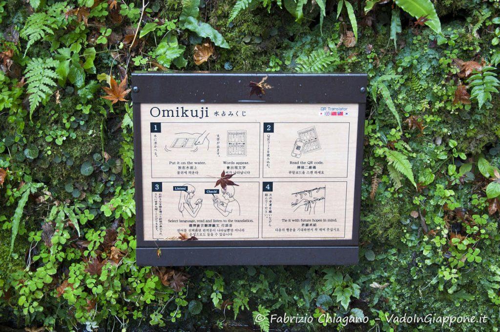 Omikuji al santuario Kifune