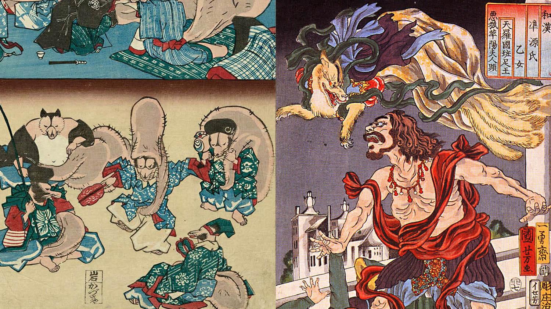 Tanuki e Kitsune, animali del folklore giapponese