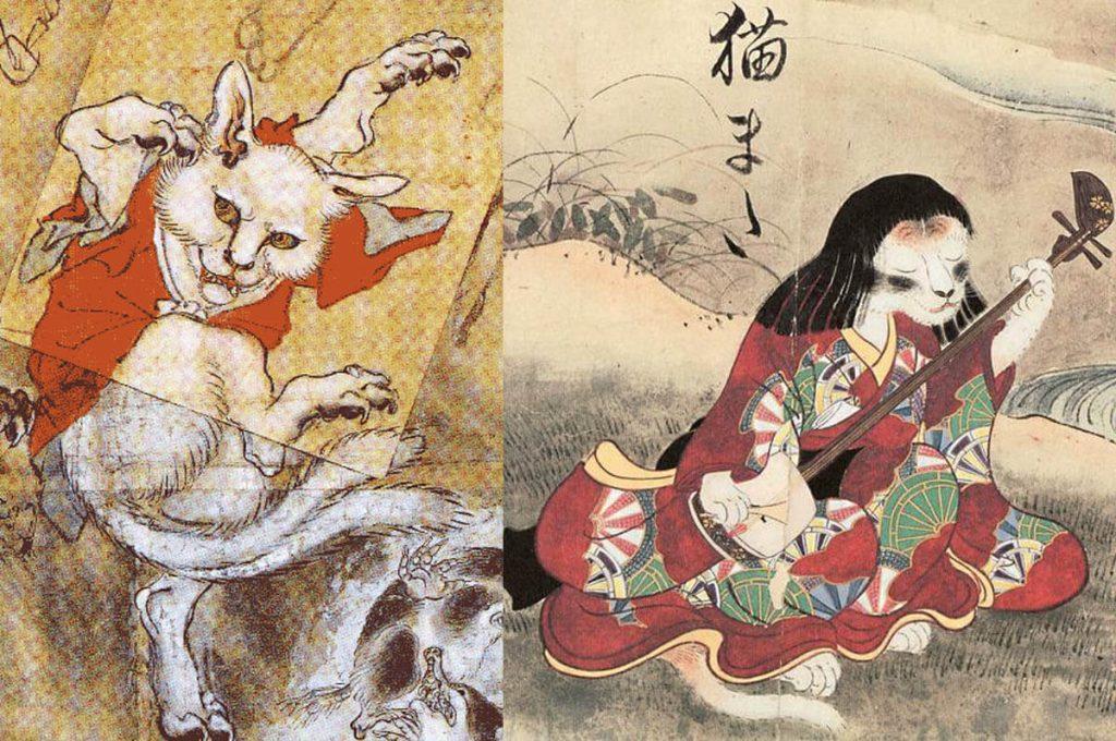 Nekomata, i gatti yokai giapponesi
