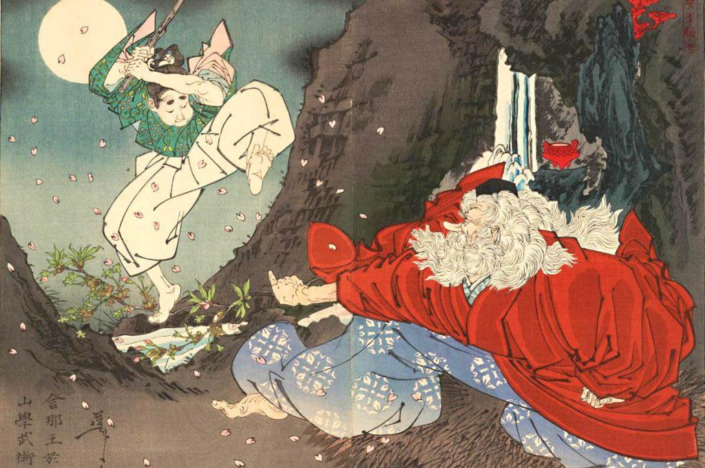 Sōjōbō, il Re dei Tengu, e Minamoto no Yoshitsune
