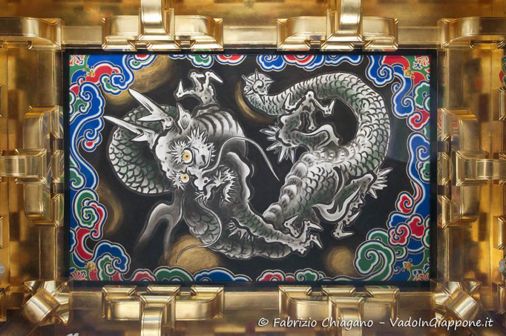 Iconografia di un Drago in un tempio buddista