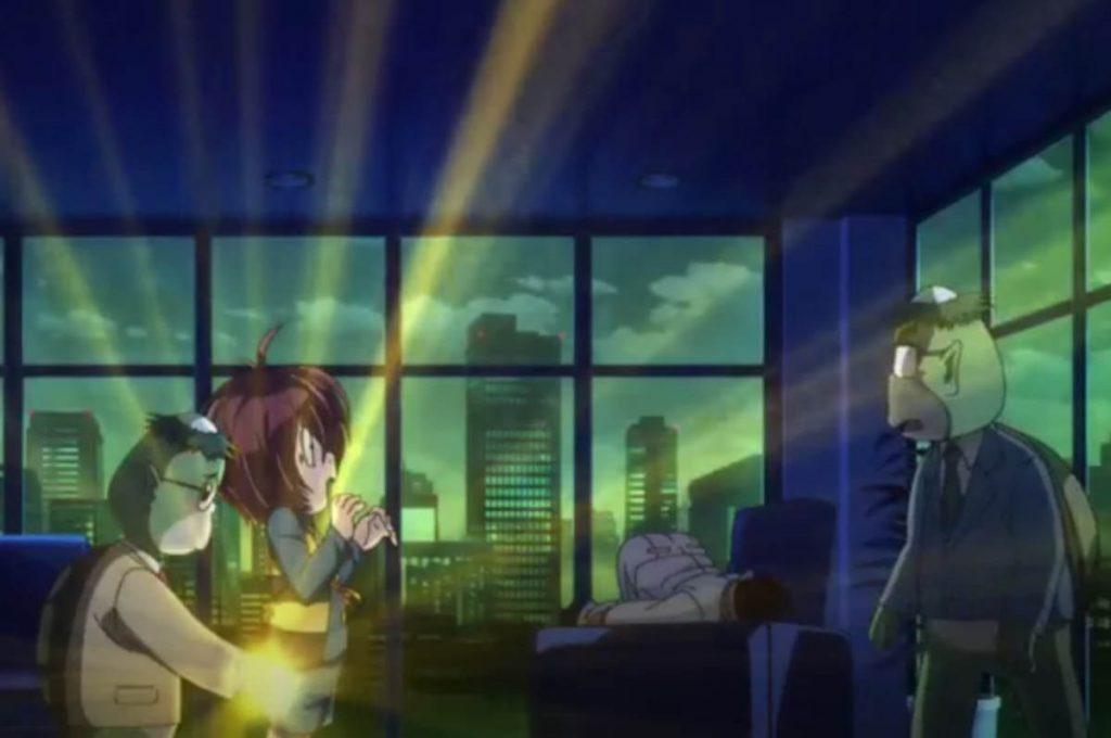 Kappa intento a prelevare uno Shirikodama