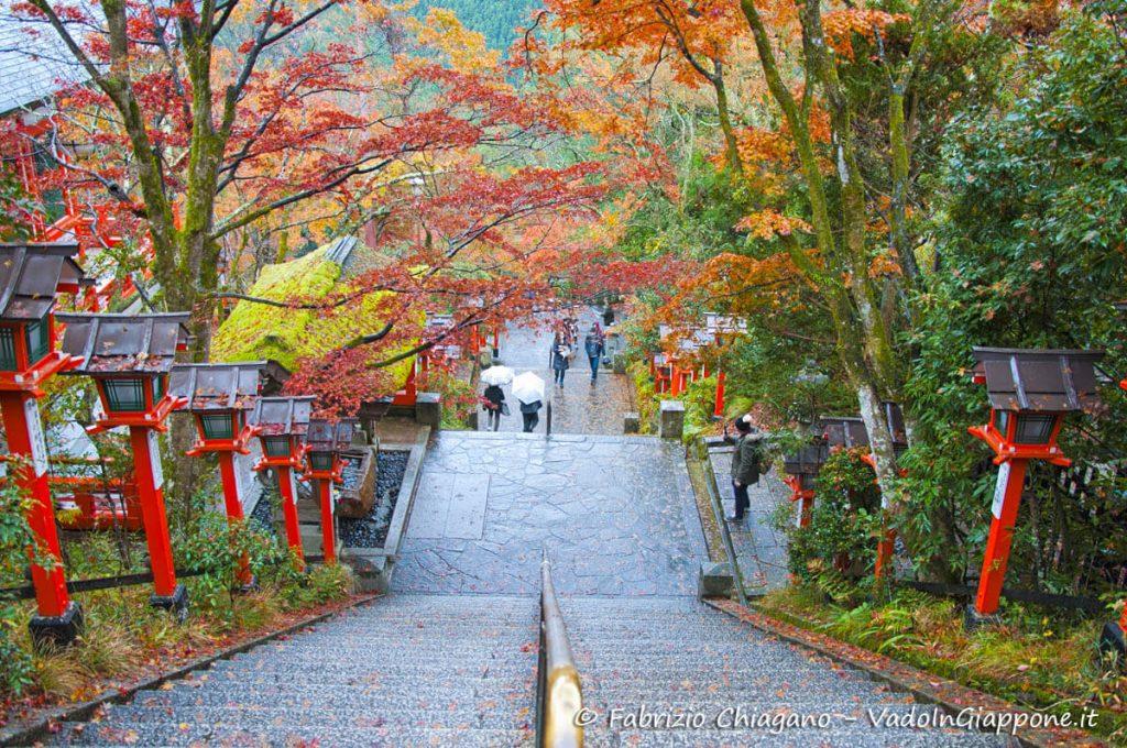 Ingresso verso il Kuramadera, a Kyoto