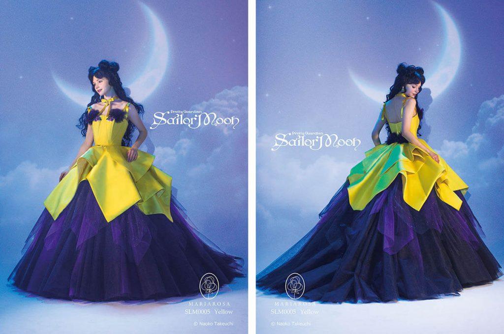 Abito da sposa a tema Luna di Sailor Moon