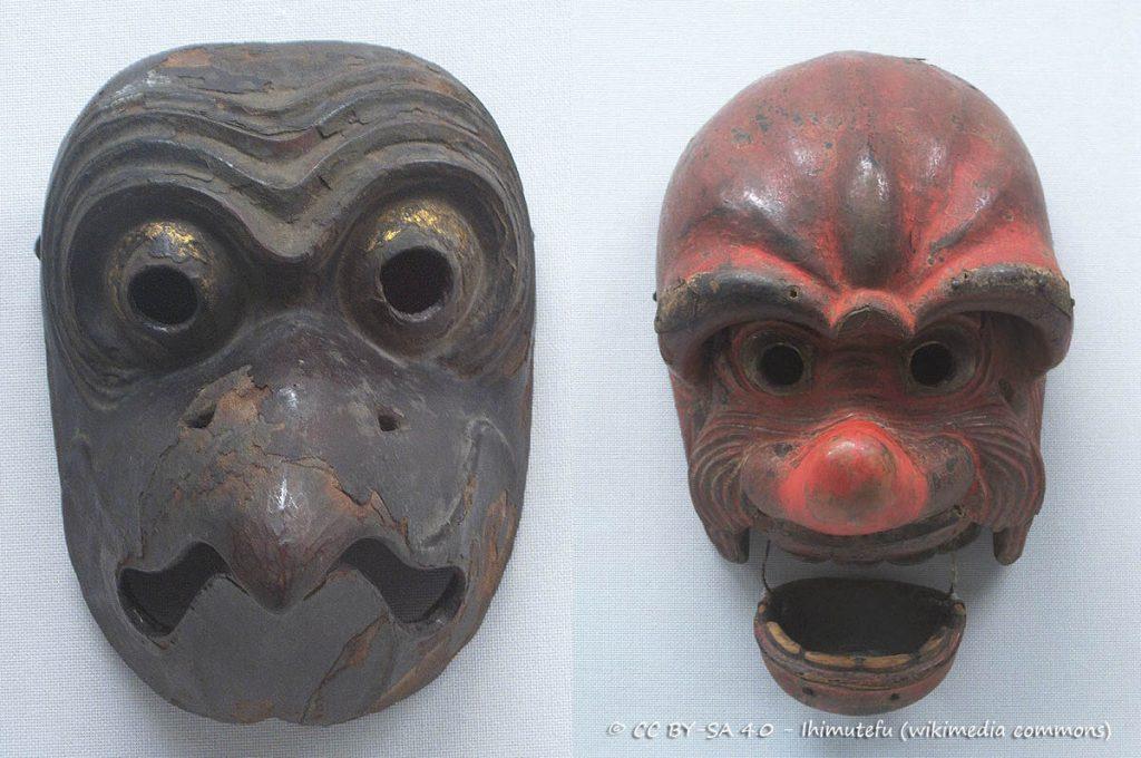 Le maschere giapponesi del Bugaku