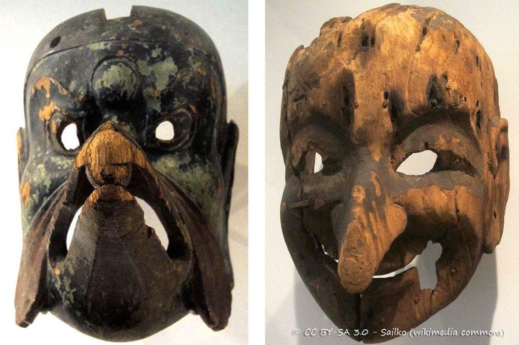 Le maschere giapponesi del Gigaku