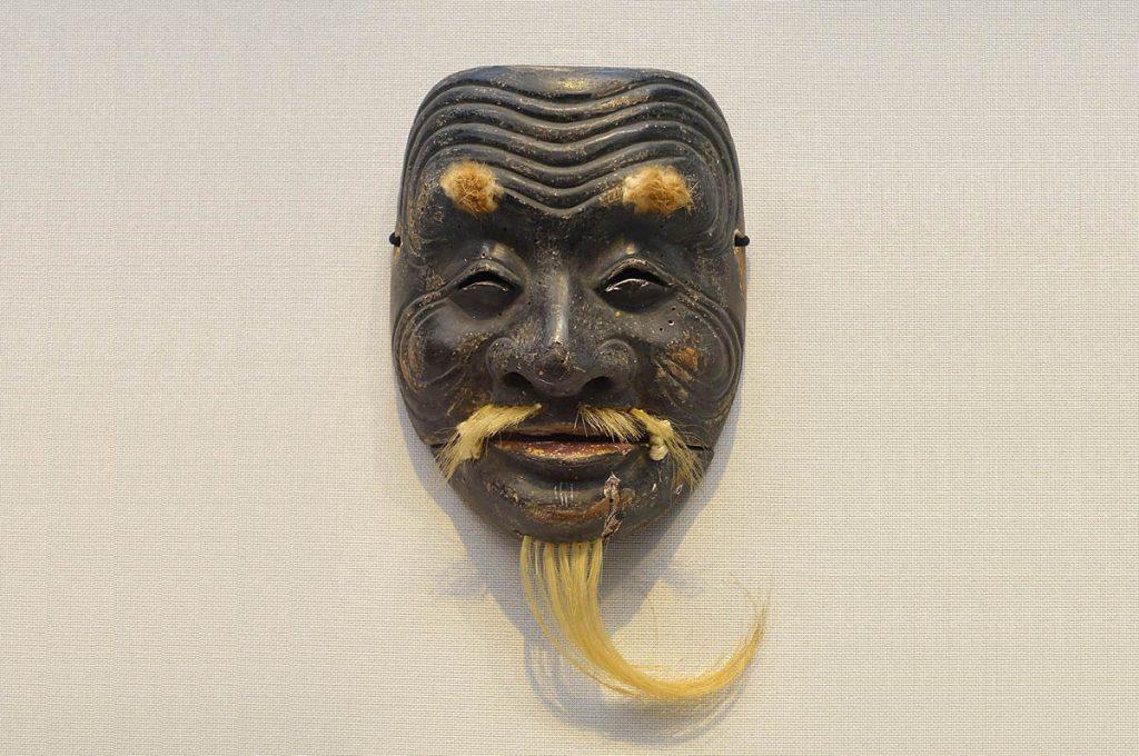 Maschera giapponese Jomen del teatro Noh
