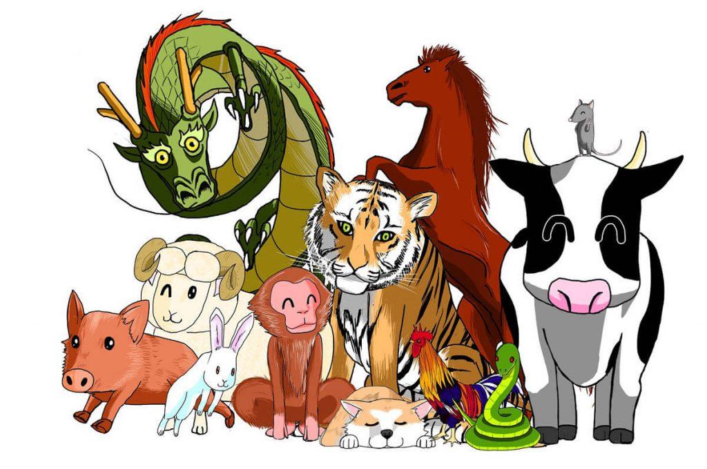 I 12 animali dell'oroscopo giapponese