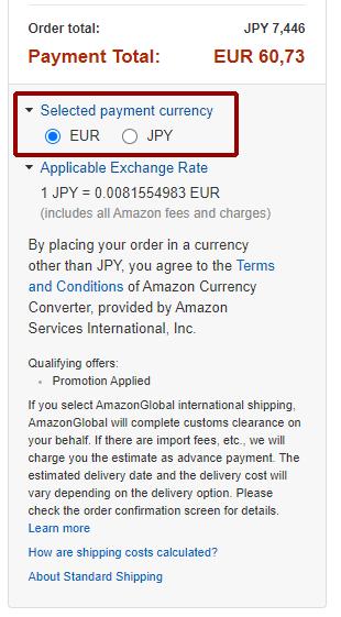 Come comprare su Amazon.jp: Carrello